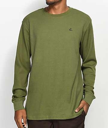 Diamond Supply Co. Un-Polo camiseta térmica de manga larga en verde oliva