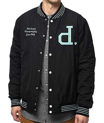 Diamond Supply Co. Un Polo chaqueta universitaria en negro