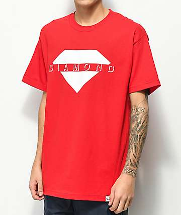 Diamond Supply Co. Viewpoint camiseta roja