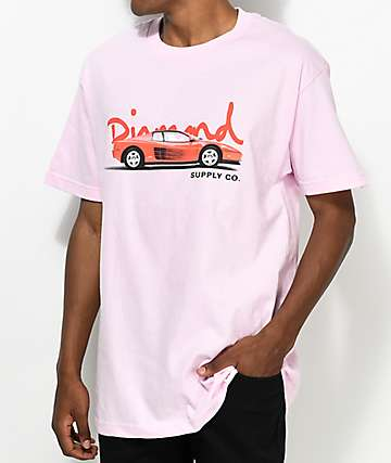 Diamond Supply Co. Vroom Vroom Light Pink T-Shirt