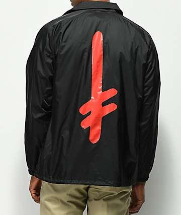 Diamond Supply Co. X Deathwish chaqueta entrenador en negro
