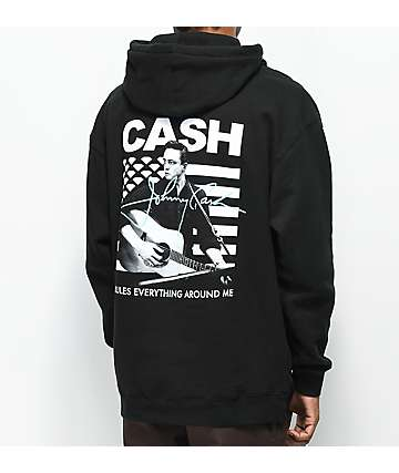 Diamond Supply Co. X Johnny Cash Rules sudadera negra con capucha