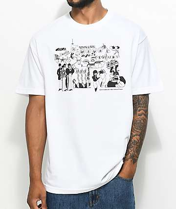 Diamond Supply Co. X The Beatles Nothing Is Real camiseta blanca