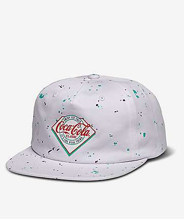 Diamond Supply Co. x Coca-Cola Paint Splatter Snapback Hat