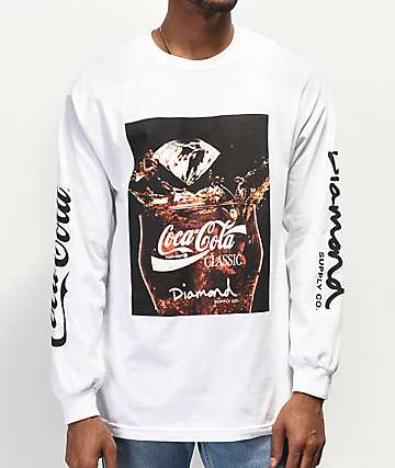 Diamond Supply Co. x Coca-Cola Photo White Long Sleeve T-Shirt