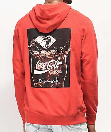 Diamond Supply Co. x Coca-Cola Photo sudadera con capucha roja