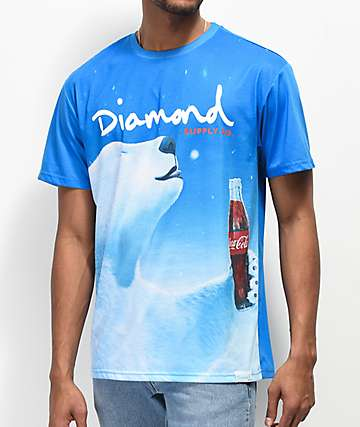 Diamond Supply Co. x Coca-Cola Polar Bear Blue T-Shirt