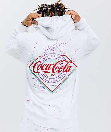 Diamond Supply Co. x Coca-Cola sudadera con capucha blanca con salpicaduras