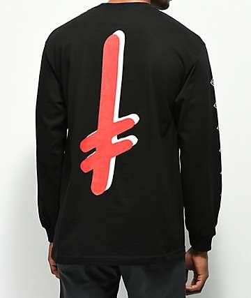 Diamond Supply Co. x Deathwish camiseta negra de manga larga