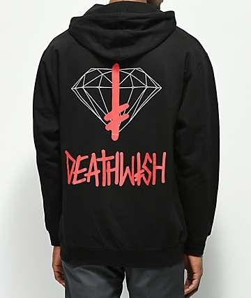 Diamond Supply Co. x Deathwish sudadera con capucha negra