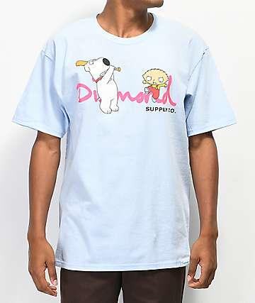 41e41bf4650724 Diamond Supply Co. x Family Guy OG Script Blue T-Shirt