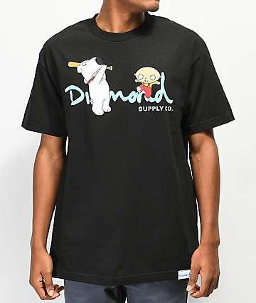 Diamond Supply Co. x Family Guy OG Script camiseta negra