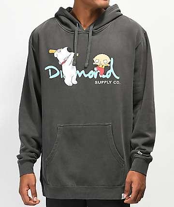 Diamond Supply Co. x Family Guy OG Script sudadera con capucha negra