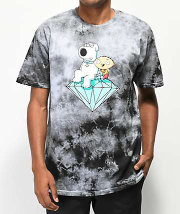 Diamond Supply Co. x Family Guy Stewie & Brian Crystal Washed T-Shirt