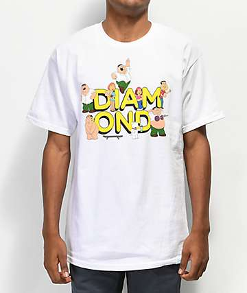 Diamond Supply Co. x Family Guy White T-Shirt
