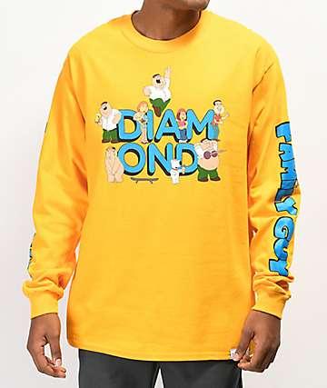Diamond Supply Co. x Family Guy camiseta amarilla de manga larga