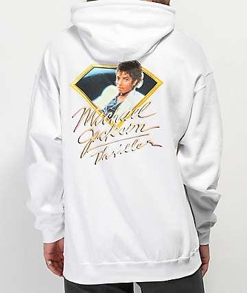 Diamond Supply Co. x Michael Jackson Thriller sudadera con capucha blanca