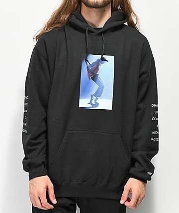 Diamond Supply Co. x Michael Jackson sudadera con capucha negra
