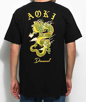 Diamond Supply Co. x Steve Aoki Black T-Shirt