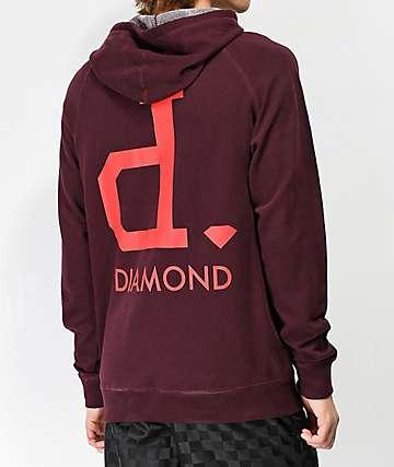 Diamond Un-Polo Wine Hoodie