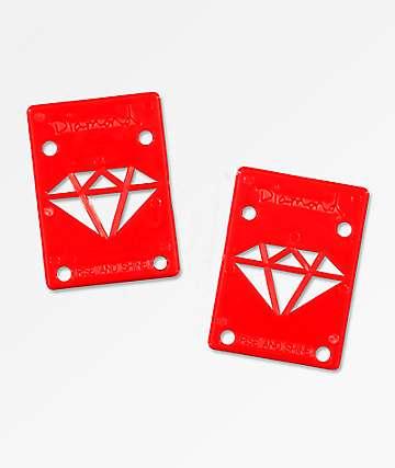 Diamond almohadillas elevadoras rojas