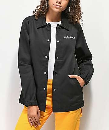 Dickies '67 chaqueta entrenador de sarga negra
