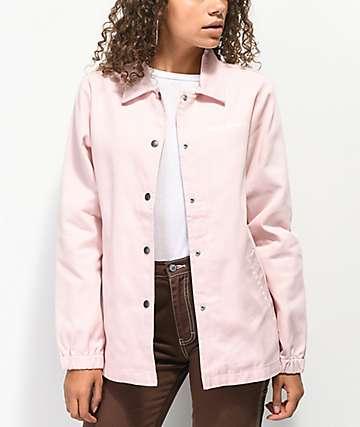 Dickies '67 chaqueta entrenador de sarga rosa
