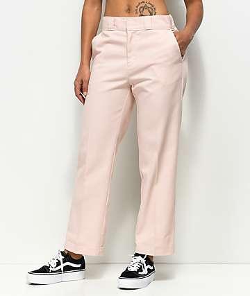 Dickies 67 Crop Ankle Pink Work Pants