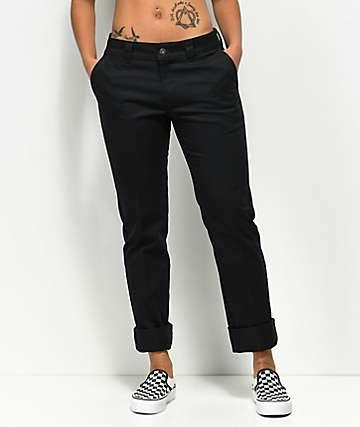 Dickies 67 Slim Straight Black Work Pants