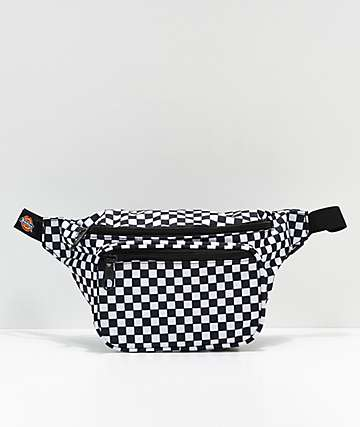 Dickies Black Checkerboard Fanny Pack