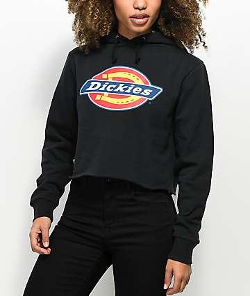 Dickies Black Crop Hoodie