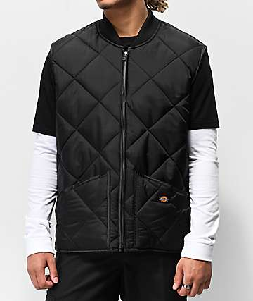 Dickies Black Quilted Vest