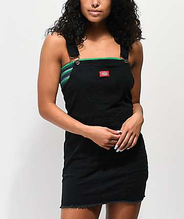 Dickies Bull Black Overall Dress