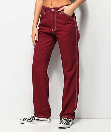 Dickies Burgundy Carpenter Pants