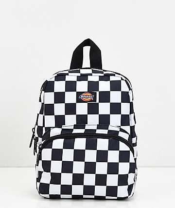 Dickies Checkerboard Black & White Mini Backpack
