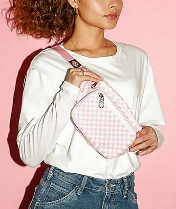 Dickies Checkerboard Pink & White Fanny Pack