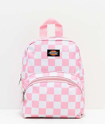 Dickies Checkerboard Pink & White Mini Backpack