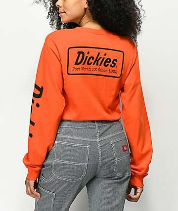 Dickies Classic Logo camiseta naranja de manga larga