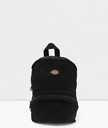 Dickies Corduroy Black Mini Backpack