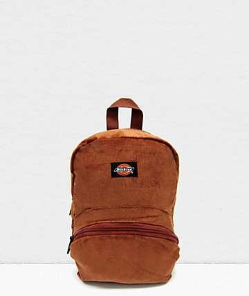 Dickies Corduroy Brown Mini Backpack