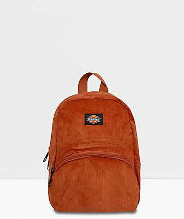 Dickies Corduroy Burnt Orange Mini Backpack