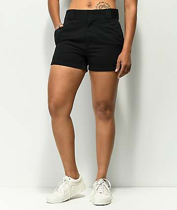 Dickies Cuffed Black Work Shorts