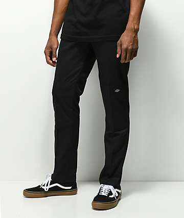 Dickies Double Knee Black Work Pants