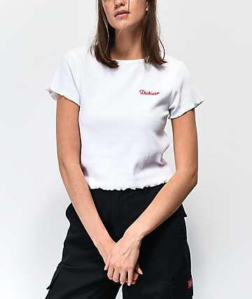 Dickies Embroidered White Baby T-Shirt