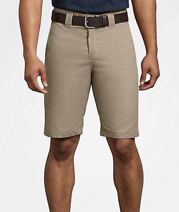 Dickies Flex Regular Fit Desert Khaki Work Shorts