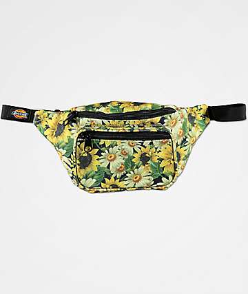 Dickies Flower Power Black Hip Sack Fanny Pack