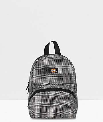 Dickies Glen Plaid Black & White Mini Backpack