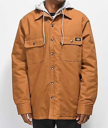 Dickies Icon Hooded Khaki Duck Jacket