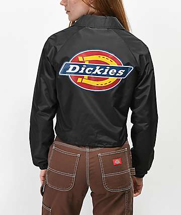 Dickies Logo Crop Black Windbreaker Jacket