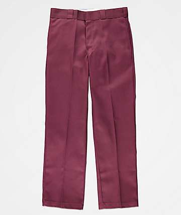 Dickies Original Fit Maroon Work Pants